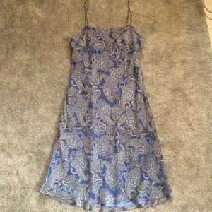 Paisley Silk Slip Dress